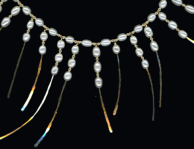 Pearl Choker. Hammered Gold-Fill and Freshwater Pearl 2007