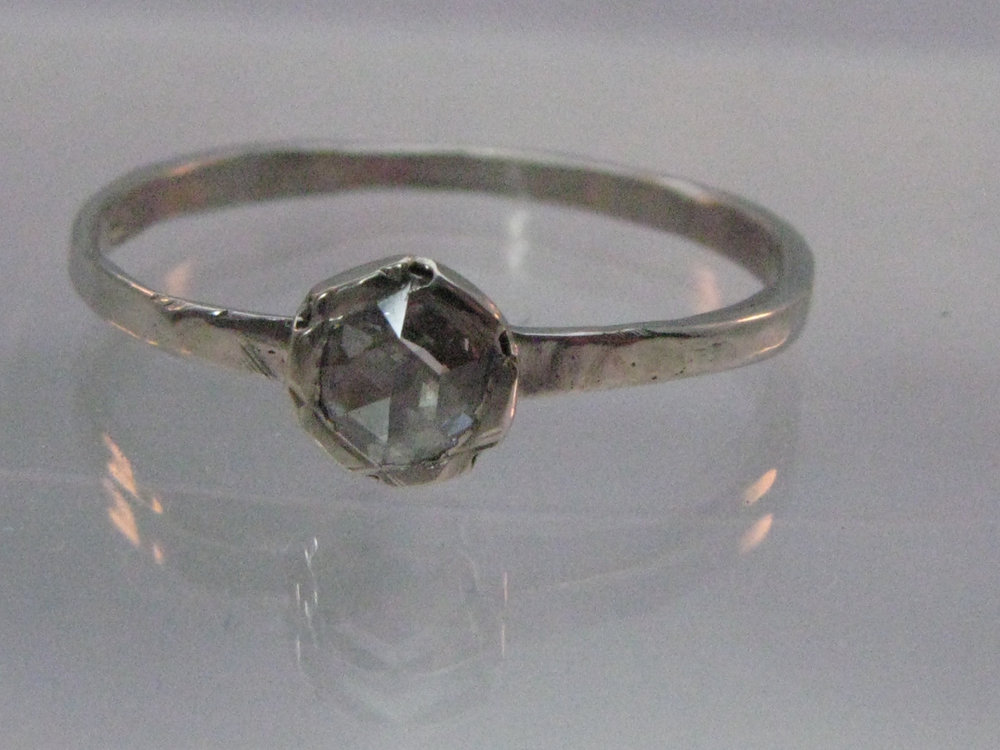 Palladium Ring with Rose-Cut Diamond 2012