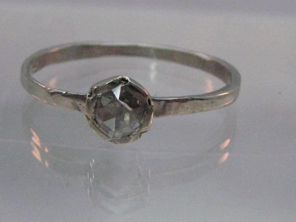 Palladium Ring with Rose-Cut Diamond 2012