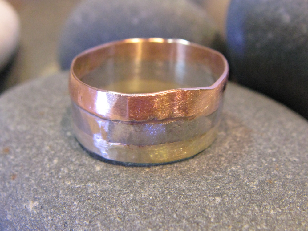 Palladium, 14k Rose Gold, 14k Green Gold Ring. 2012?