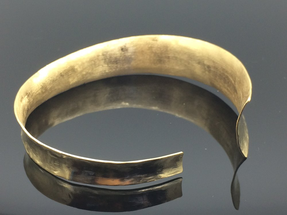 22k Gold Hammered Cuff Bracelet 2015