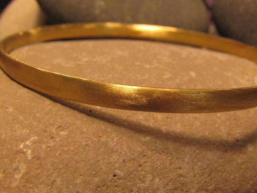 22k Gold Sanded Bangle 2013
