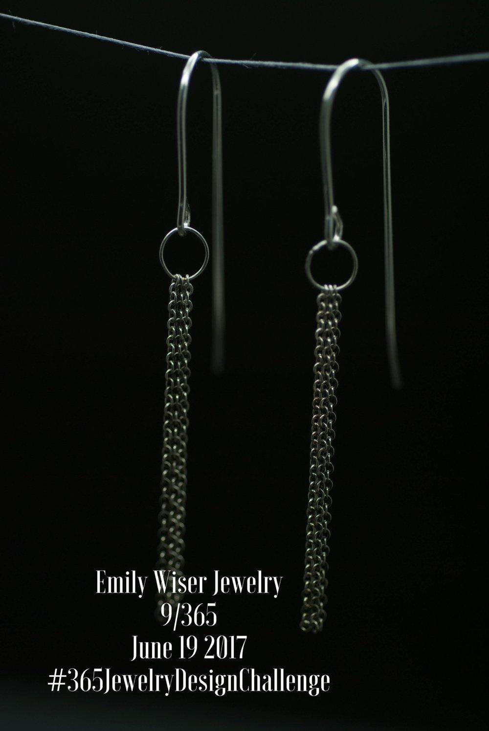 Chain Earrings. Sterling Silver.