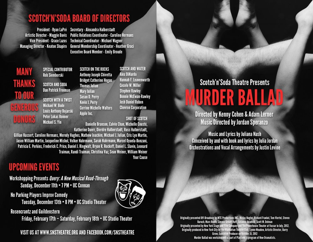The front and back of the programs.