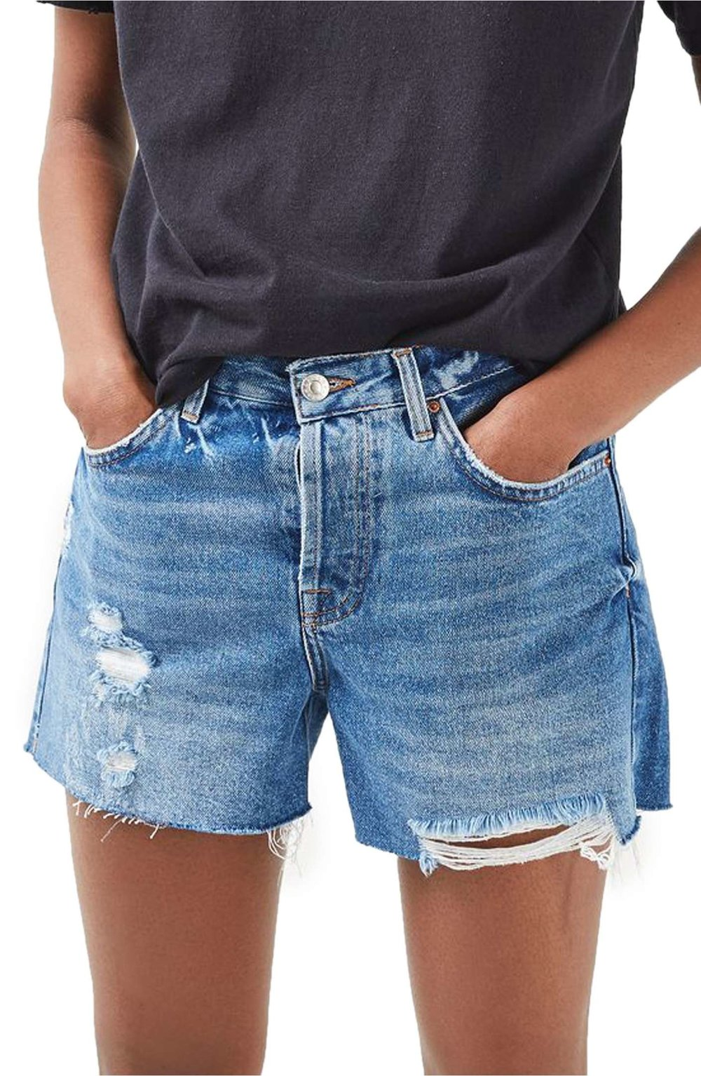 Ashley Ripped Boyfriend Shorts