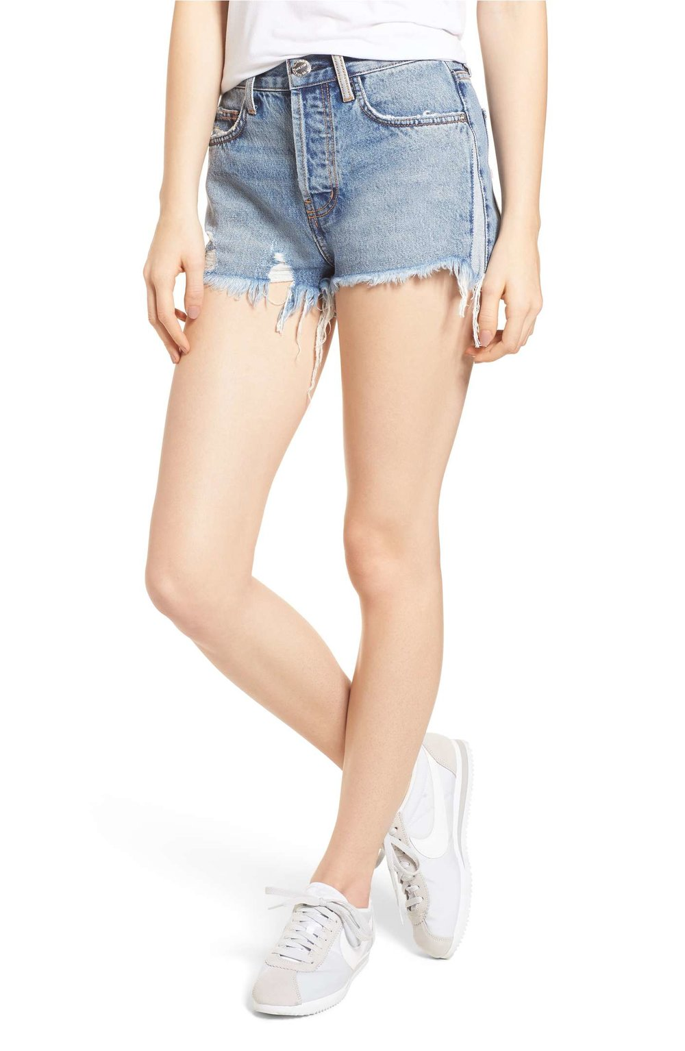 The Ultra High Waist Cutoff Denim Shorts