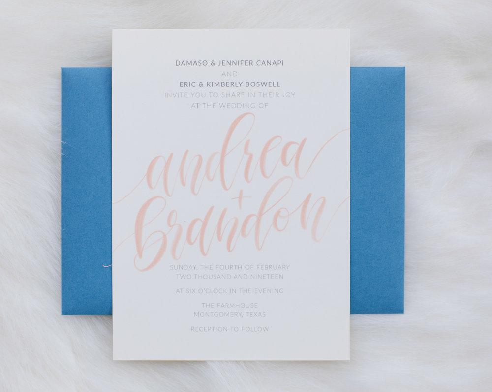Custom Invites- Honeybee Letters
