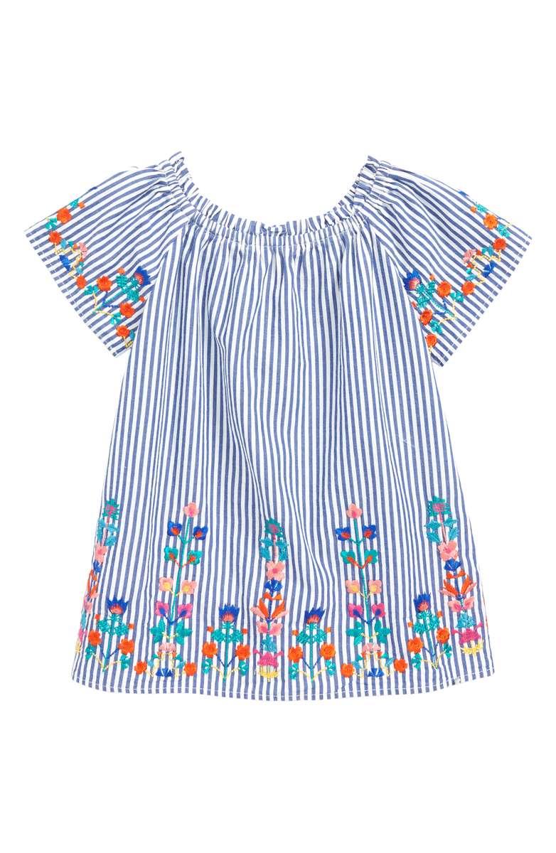 Peek Christina Embroidered Stripe Dress