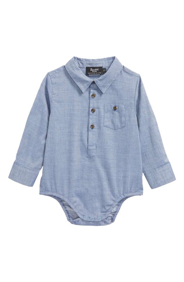 Bardot Junior Chambray Pocket Bodysuit