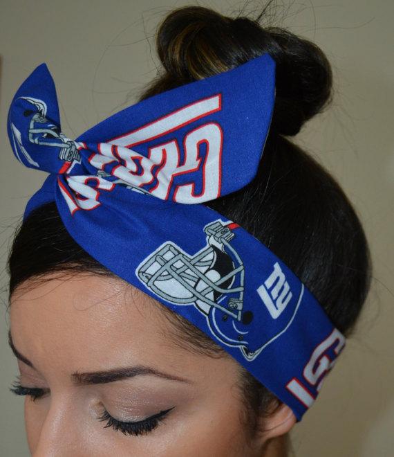 New York Giants, headband, Custom Headband