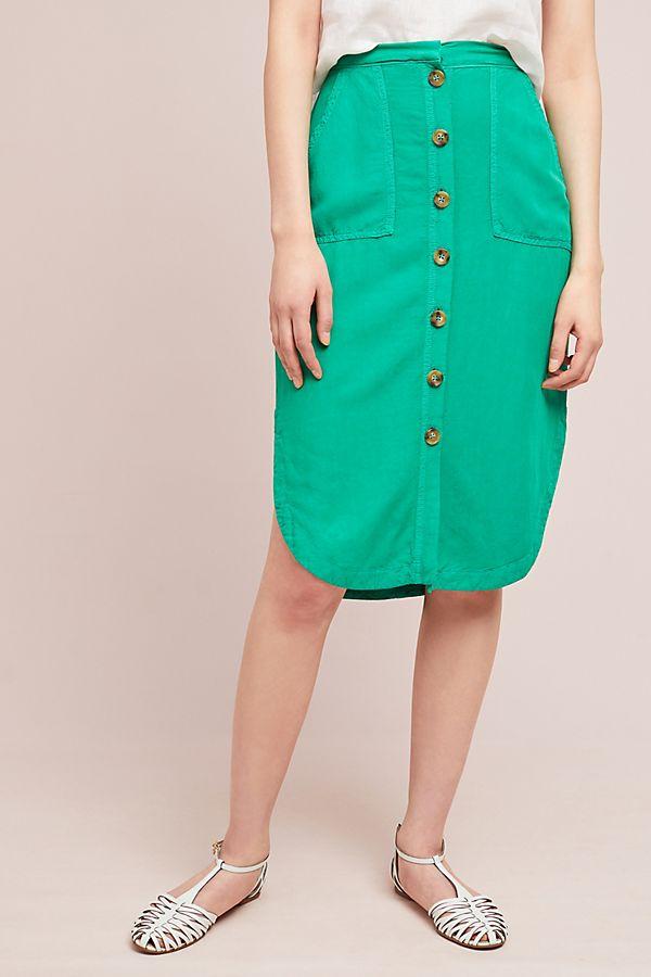 Linen Button-down Skirt