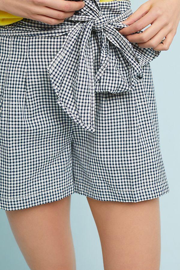 Cartonnier Gingham Tie-Waist Shorts | Anthropologie