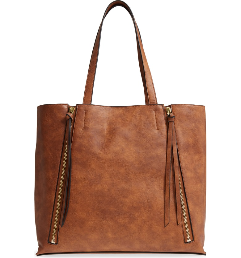 Chelsea 28 Leigh Faux Leather Tote & Zip Pouch