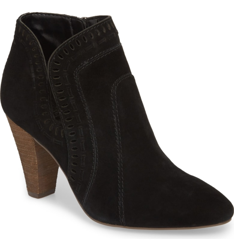 Every year I try to get a great, basic bootie. Last year I got a pair or black flat booties so when I found these this year I knew I had to snag them. I love having the option to have flat or heeled booties in neutral colors!
