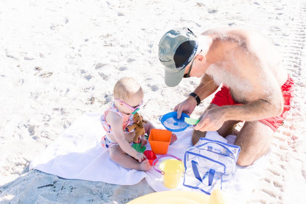 Beach baby, grandpa, best friends, Florida, vacation