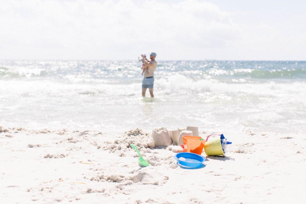 First sand castle, Father Daughter, Best friends, Beach babies