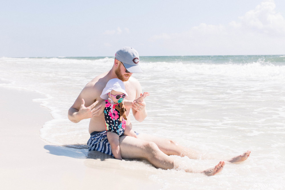 Father daughter, beach trip, family, LTK