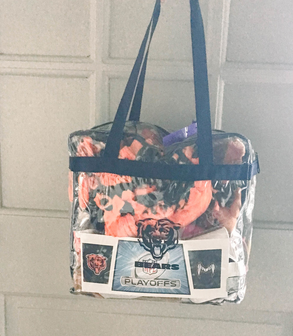 Chicago Bears Clear Bag