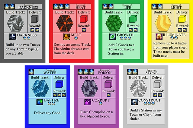 Original prototype spell cards