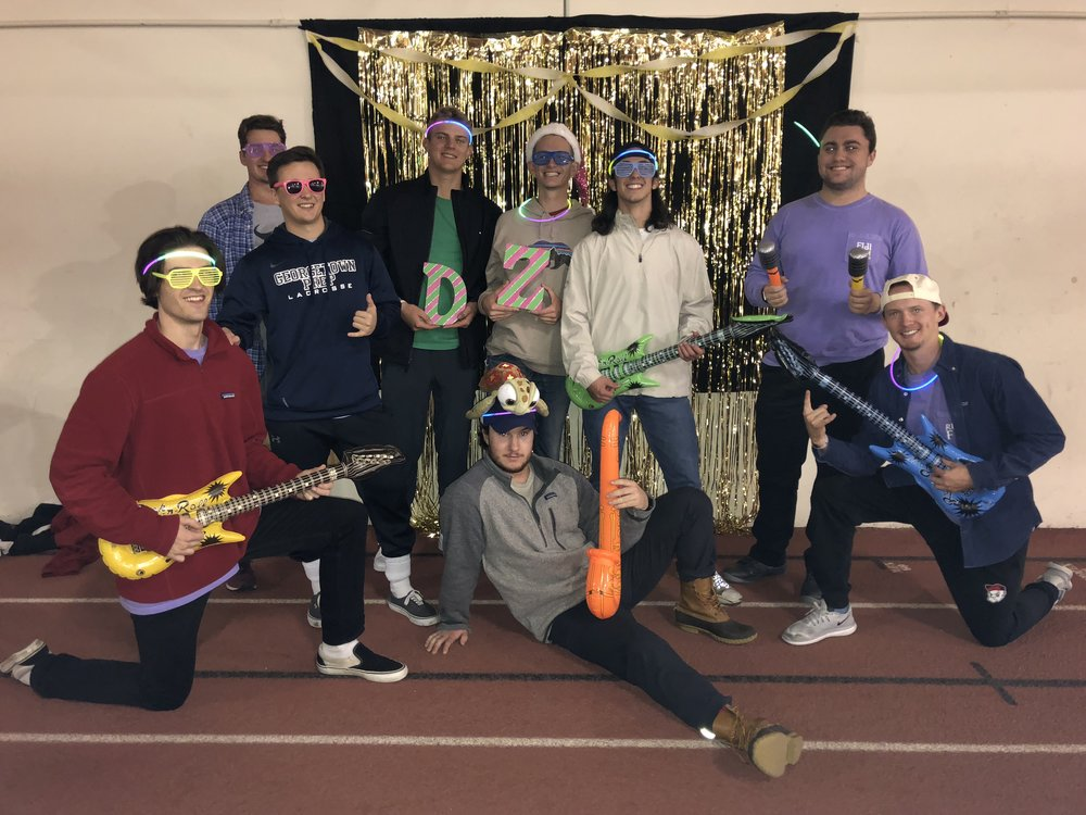 Left to right: Jack Dugan, Max Berry, Matt Brault, Jack Funderburg, Eli Rajotte, Jay Welch, Jordan Auriemma, Louis Yank, AJ Outcalt