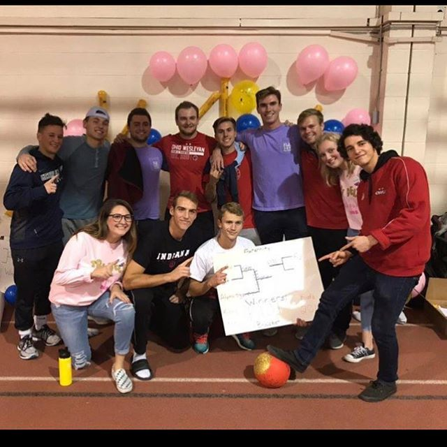 Brothers taking home the 'Kick for Kids' kickball tournament championship  hosted by @owutridelta last week! Congratulations to @dgalpharho for winning the women's bracket 🥇 #proudtobe #forthekids #tridelta #kickforkids #phigammadelta #owu #fiji