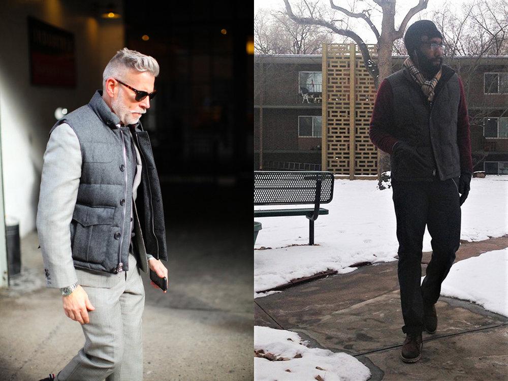 The grey flannel vest swag jack