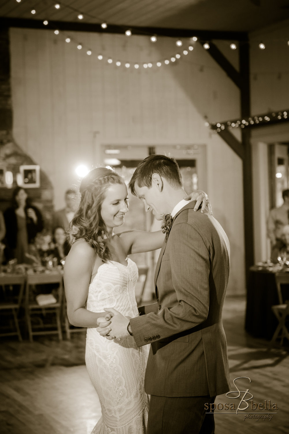 "Ashley & Josh chose Taylor Swift's ""You are In Love"" for their first dance."