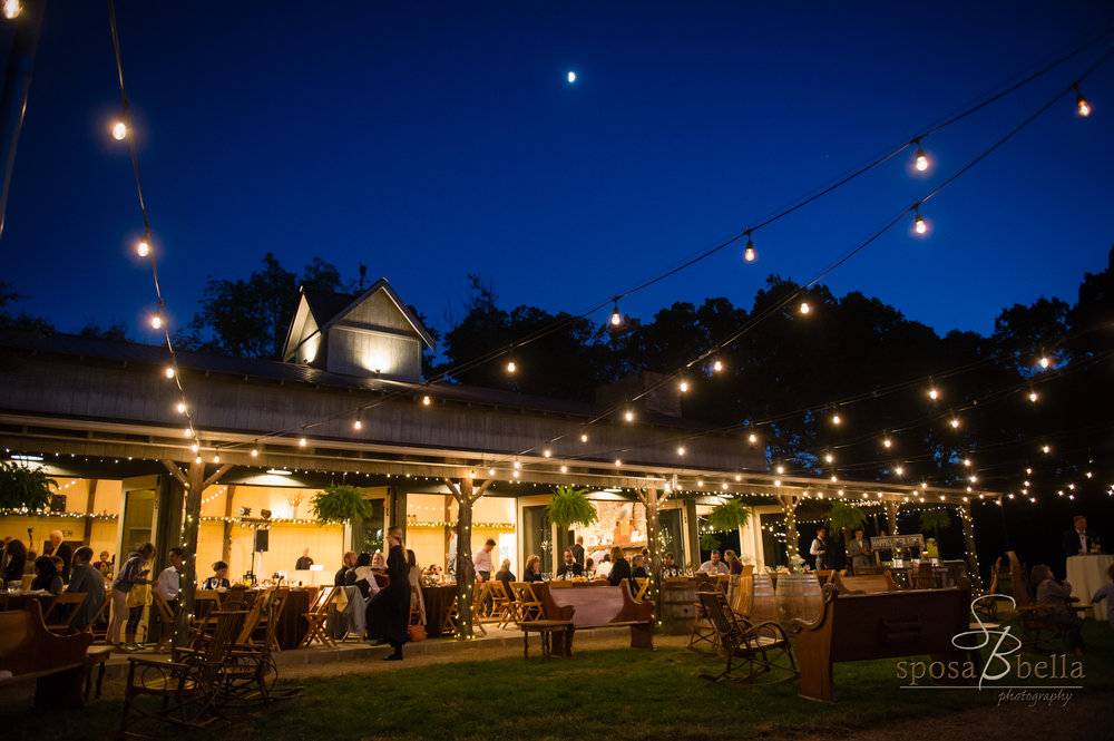 The Farm has a great indoor/outdoor feel that allows guests to flow through the event space all night.