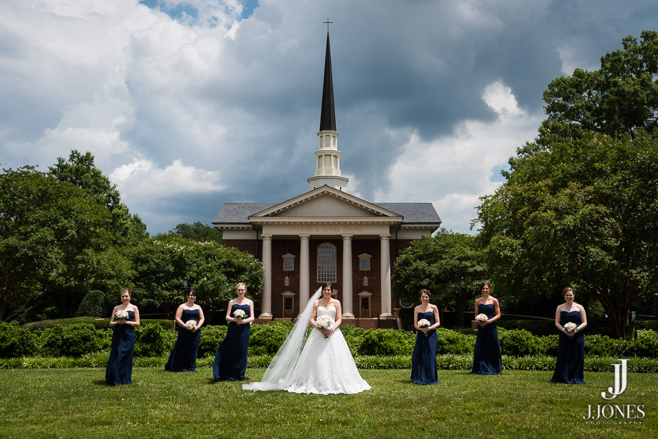 Furman's campus always provides an incredible backdrop for wedding day pictures.