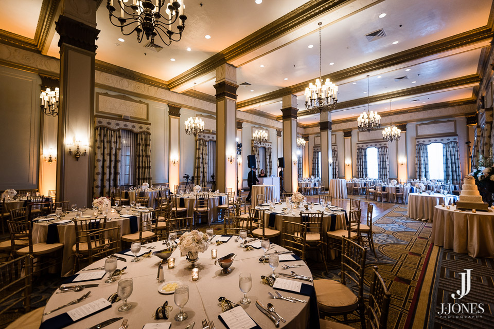 Our uplighting adds a very elegant touch to the ballrooms at The Westin Poinsett.