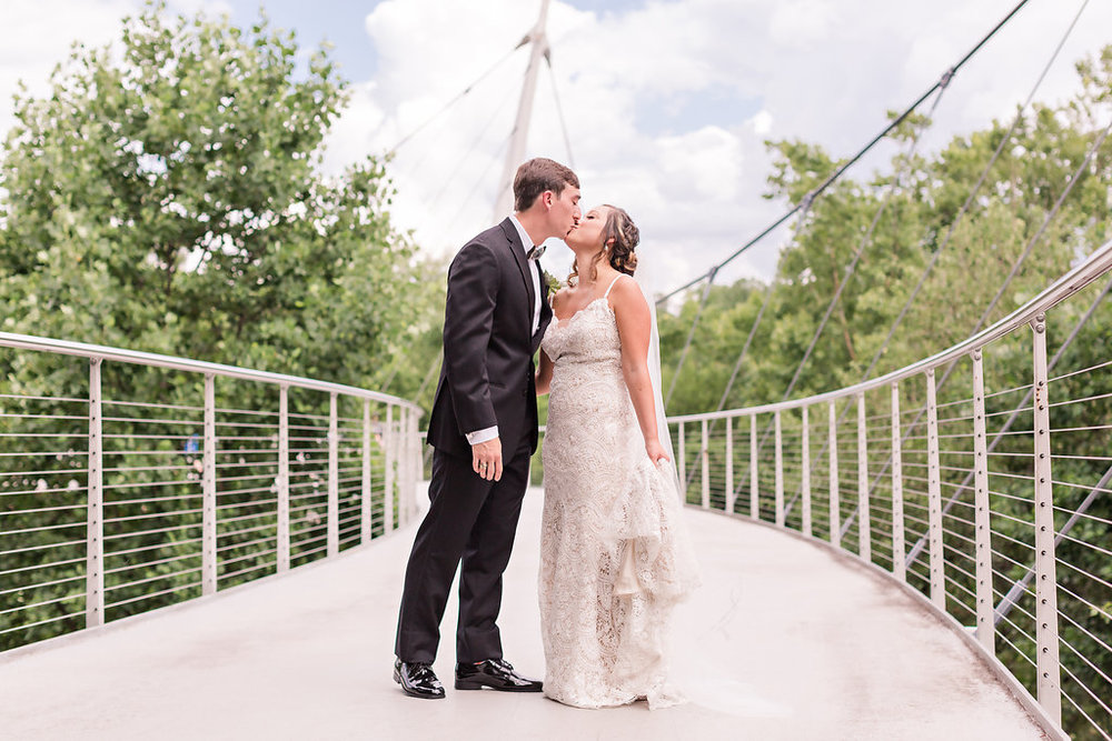 Falls Park is the perfect wedding picture backdrop!