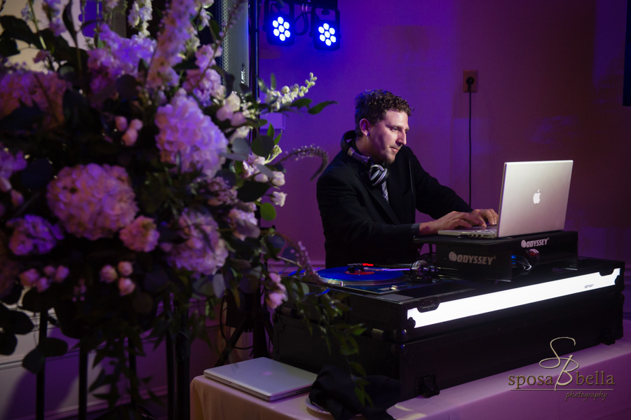 DJ Chris crafting the wedding soundtrack.