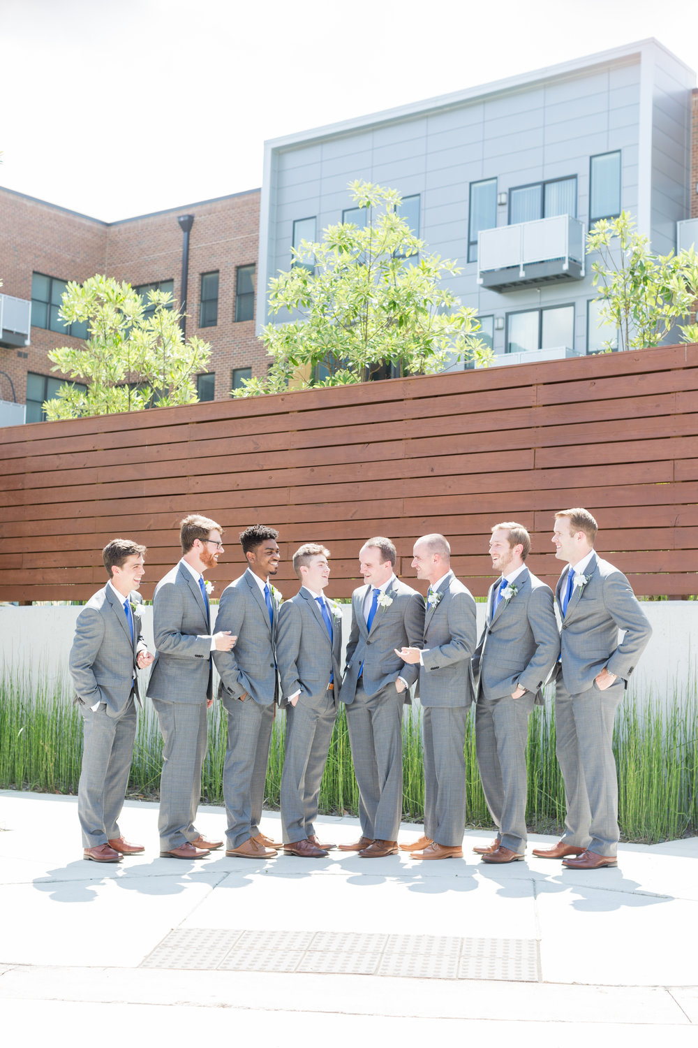 Look at our groom and his groomsmen looking quite dapper!