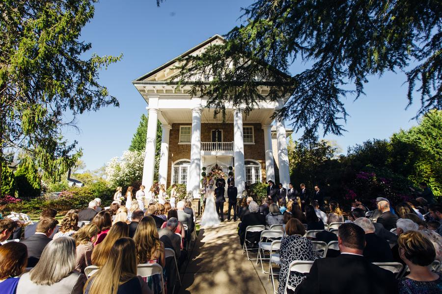 The house makes quite the wedding backdrop!