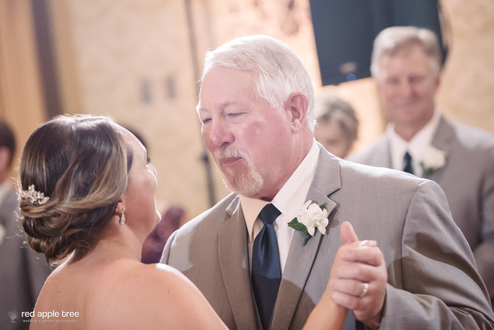 "Laura and her dad's special dance was to ""I Believe in You"" by Steven Curtis Chapman. The look on their faces says it all."