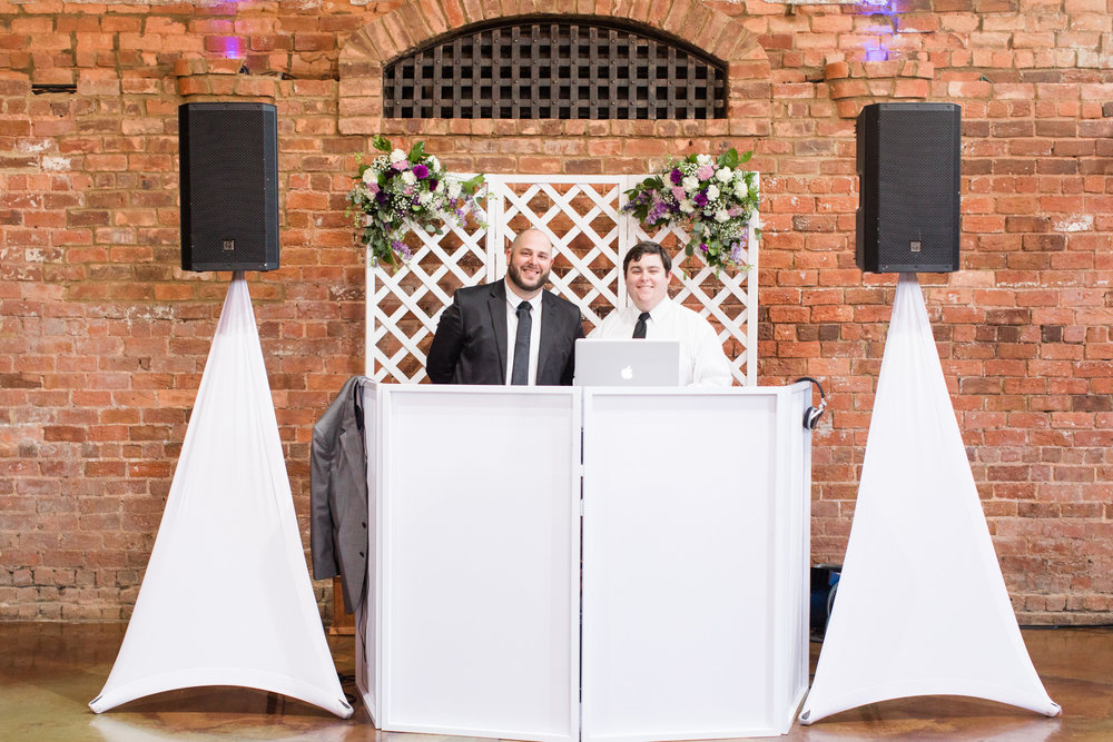 Alex and Will were the DJ's for their wedding celebration.