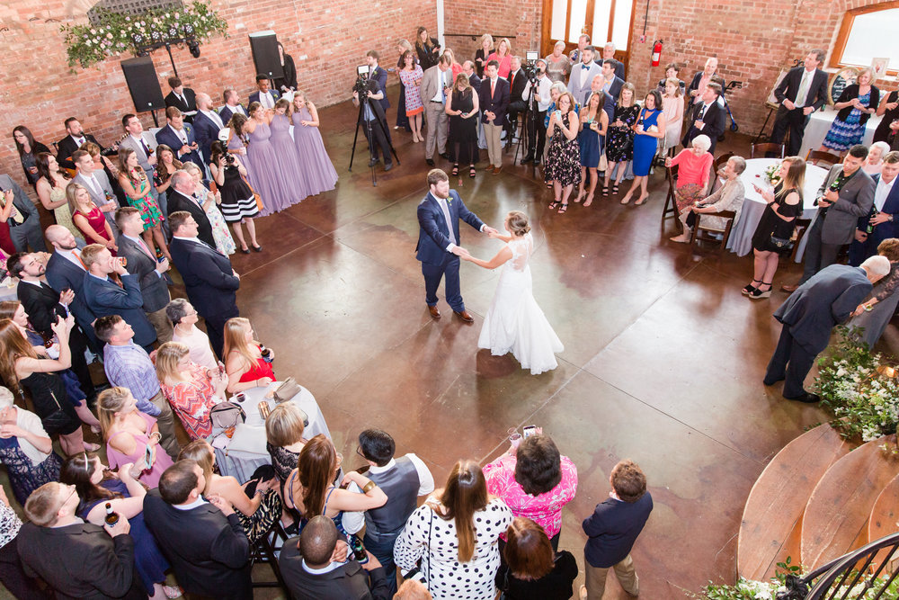 The Old Cigar Warehouse provides one of the most beautiful spaces for first dance pictures. Megan and Ben's first dance was no exception.