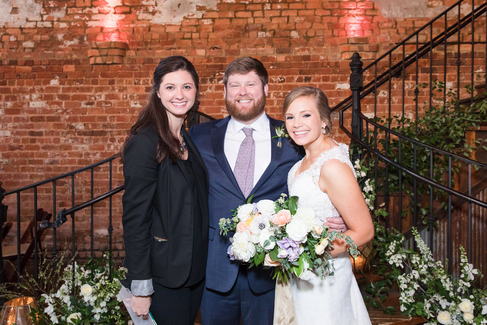 Kelley with Clink! Events is one of our all time favorite wedding planners in Greenville, SC.