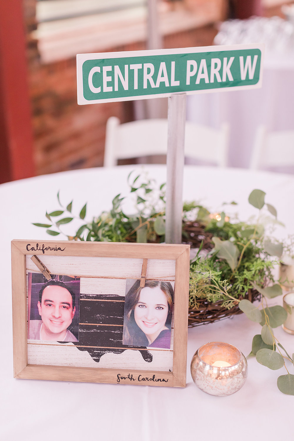 Every table assignment was one of these cute street sign table markers.