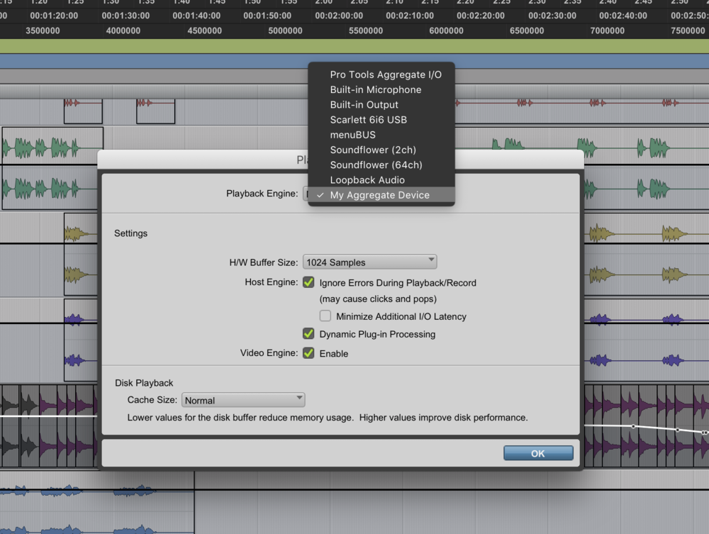 4. - Now select the device you created as you output device in your DAW.