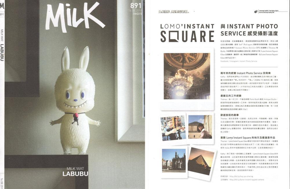 《 Milk #891 》  Lomography訪問 - Lomo' Instant Square   16 AUG 2018