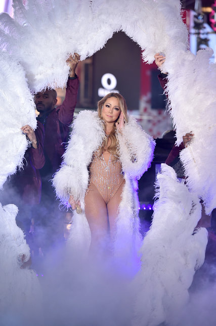 "Mariah Carey during her performance on ABC's ""Dick Clark's New Year's Rockin' Eve With Ryan Seacrest"" in Times Square. CreditTheo Wargo/Getty Images"