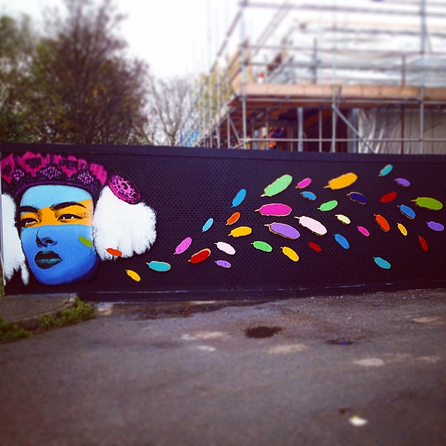 Kiwidinok outside installation piece by @welikestatic for #woodstreetwalls project #e17 #walthamstow #awesomestow #streetart #art #london #stencil #spray