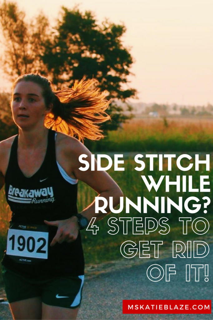 Side stitch while running? Here's exactly how to get rid of it!