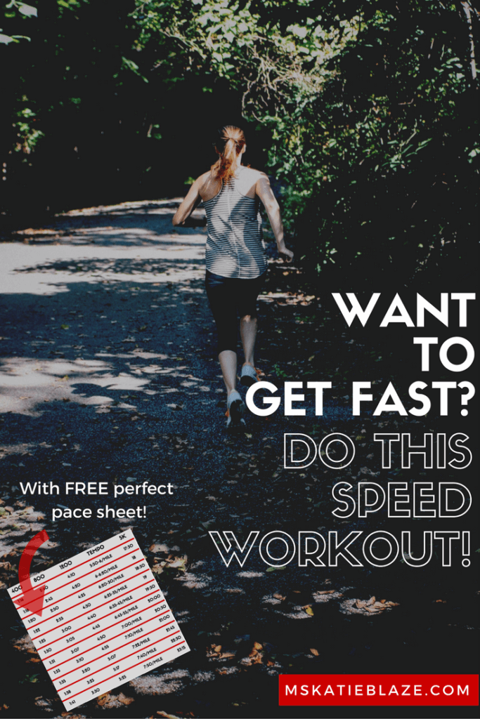 One key to being a fast runner is doing fast running workouts. This speed workout will get you prepared for a big goal race!