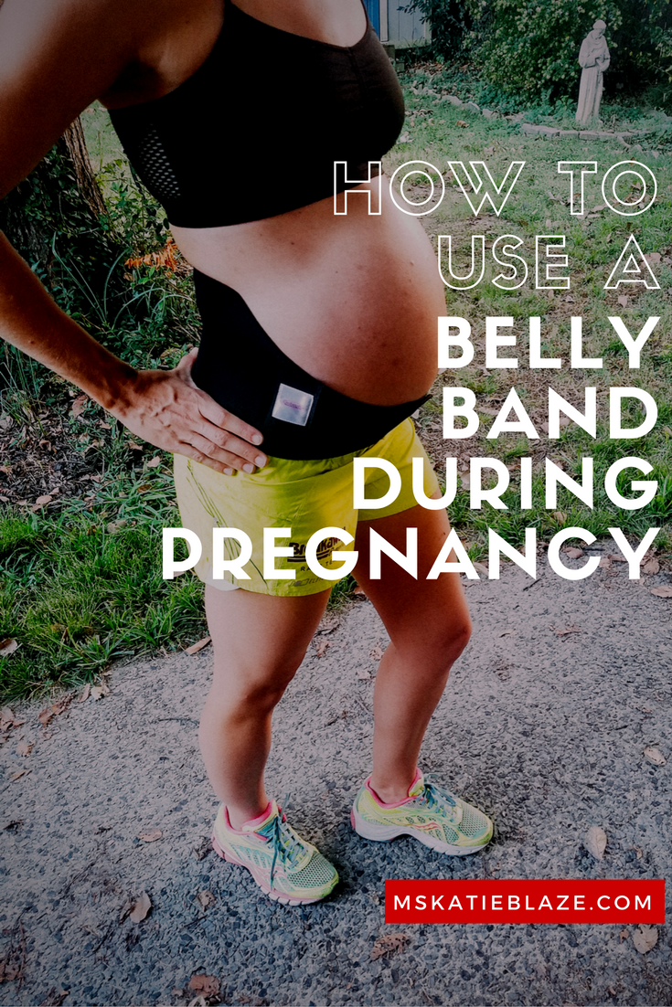 Wearing a Maternity Support belt can make running during pregnancy more comfortable. This explains how to use and wear a maternity belt during pregnancy.