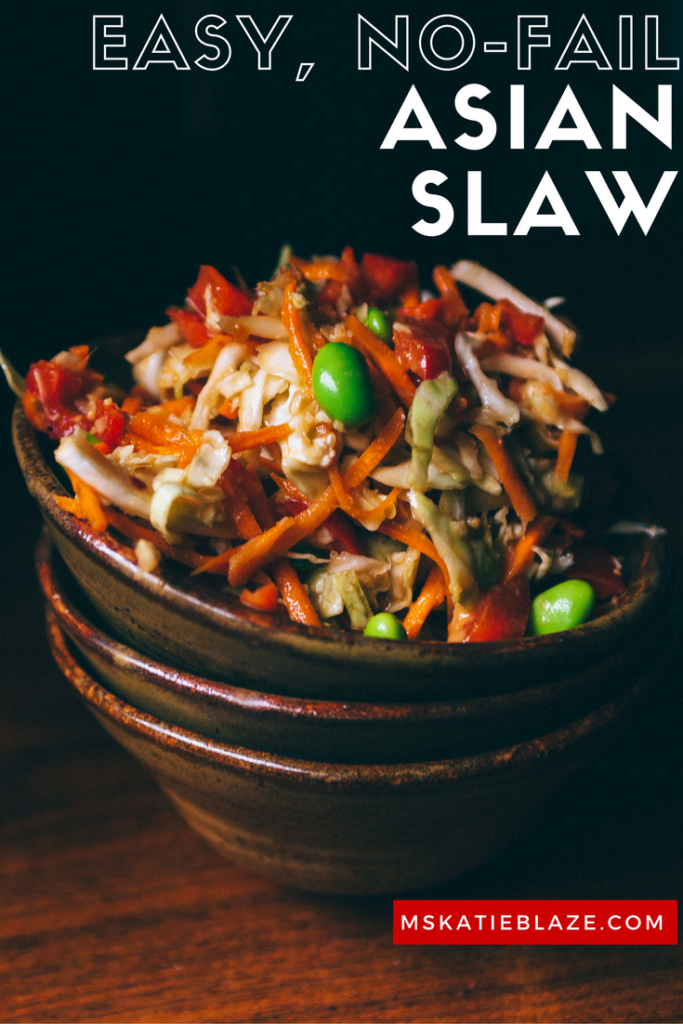 This easy Asian coleslaw recipe is a perfect lunch or dinner healthy recipe! it's an easy asian coleslaw recipe with ginger peanut dressing and lots of vegetables!