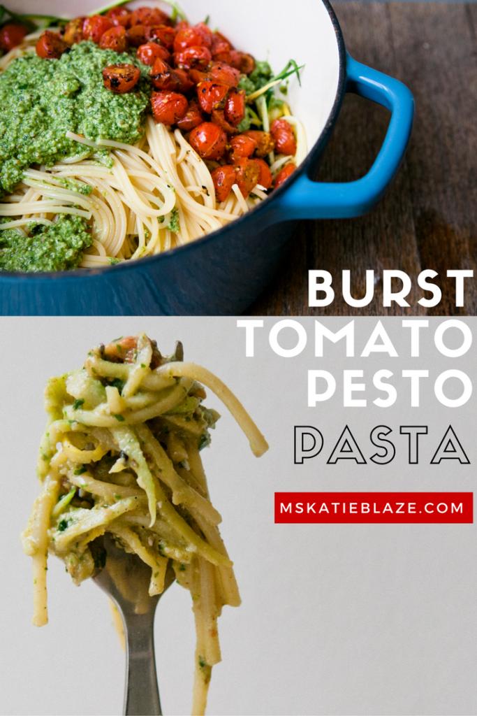burst tomato pesto pasta