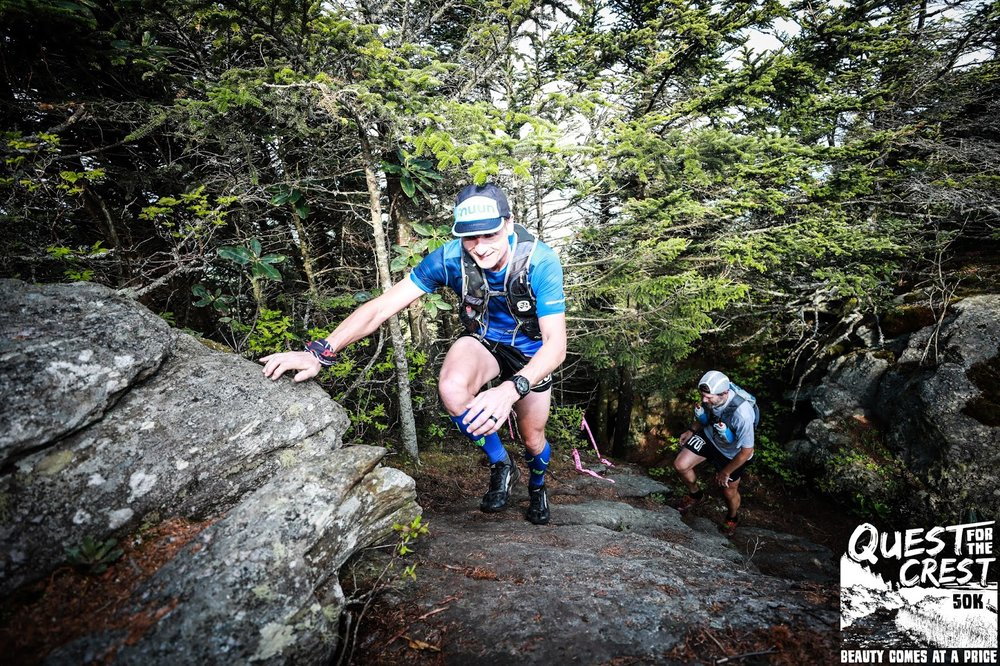 This was part of the climb in mile 3. Obviously not me, but you get the picture ;)  Bouldering/Rock climbing to prep for this race would have seriously come in handy lol.  photo: ultrakrautrunning.com