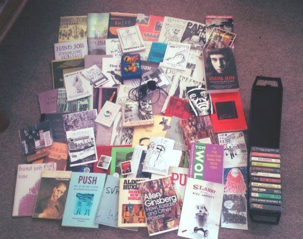 This is Joe Bunn's collection that he's built up. You can spot quite a few of our old zine, Hand Job, in there too.